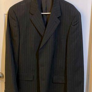 Men's chaps pin stripe suit jacket/pants/tie